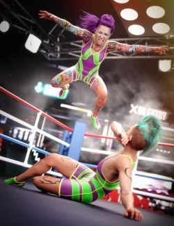Amateur Wrestler Outfit for Genesis 8 Female
