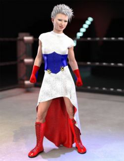 dForce America Bell Outfit for Genesis 8 Female