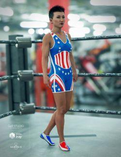 Amateur Wrestler Outfit Textures