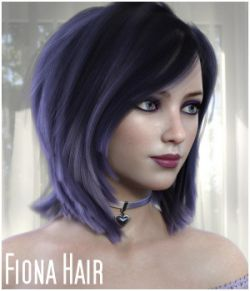 Fiona Hair for Genesis 8 Females