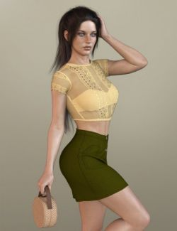 X-Fashion Delicate Touch Outfit for Genesis 8 Female(s)