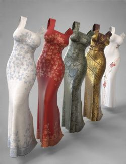 dForce COG Evening Dress Texture Pack