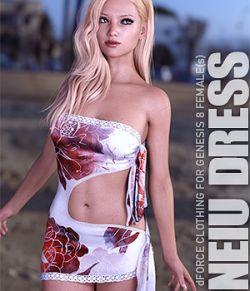 dForce Neiu Dress for Genesis 8 Females