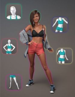 NG Build Your Own Standing Poses for Genesis 8 Female