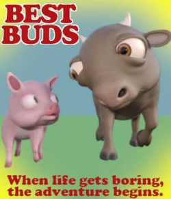 BEST BUDS Poses for ButterCup and Hamlet in Daz Studio