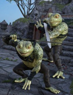 Frog Senshi Poses for Bullwarg HD and Genesis 8 Male(s)