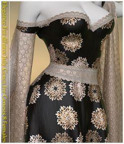 Elegance For dForce July Gown for Genesis 8 Females