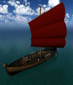 Orc Small Sailboat for Poser