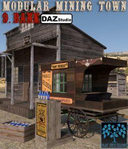 Modular Mining Town: 9. Bank for Daz Studio