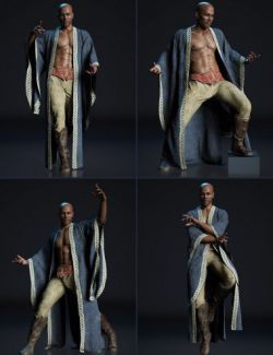 Wicked Sorcerer Poses for Genesis 8 Male