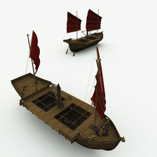 Orc Merchant Ship for Poser
