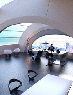 Futuristic Executive Office