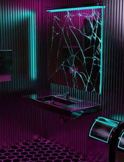 X3D Bathroom Neon Textures