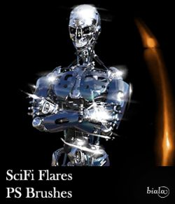 SciFi Flares PS Brushes