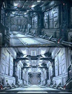 Sci-Fi Reactor Corridor