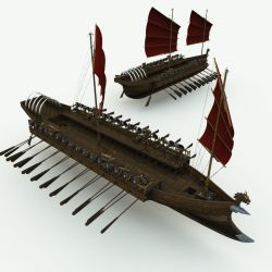 Orc Warship for Poser