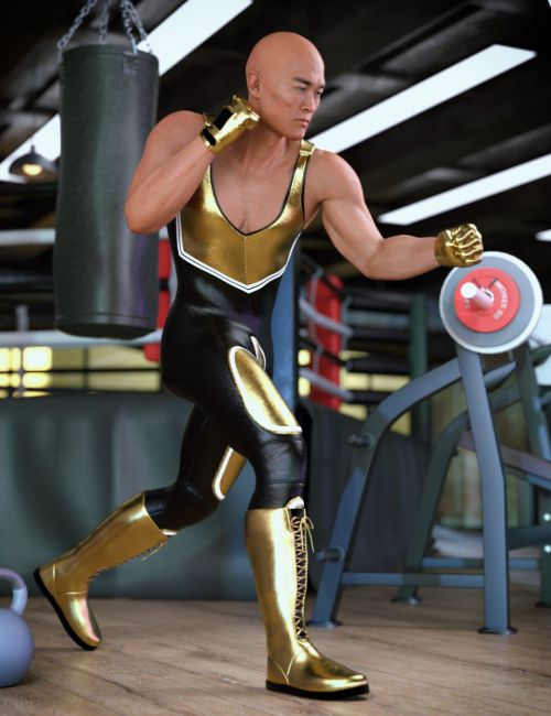 Invincible Wrestling Outfit for Genesis 8 Male(s)