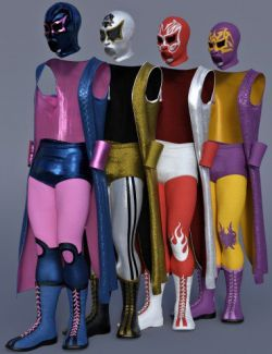 dForce Luchador Outfit Textures
