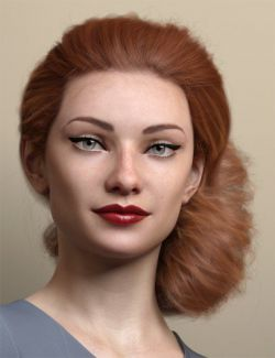 Low Updo Hair for Genesis 3 and 8 Female(s)