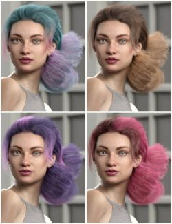 Texture Expansion for Low Updo Hair