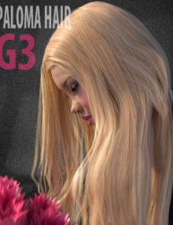 HS Paloma Hair for Genesis 3 Female