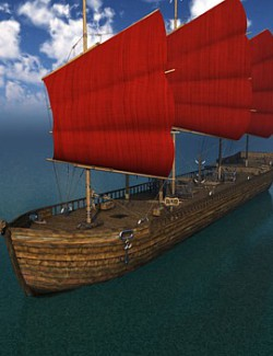 Orc Slaver Ship for Poser