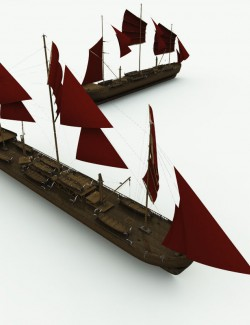 Orc Whaler Ship for Poser