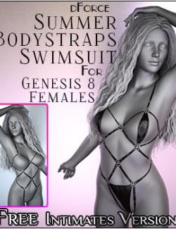 dForce Summer Bodystraps Swimsuit for Genesis 8 Females