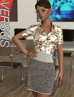 VERSUS - dForce Office Lady Clothing and poses for Genesis 8 Female