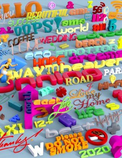 Type-of-Graphika Set- Find your Words in Daz Studio