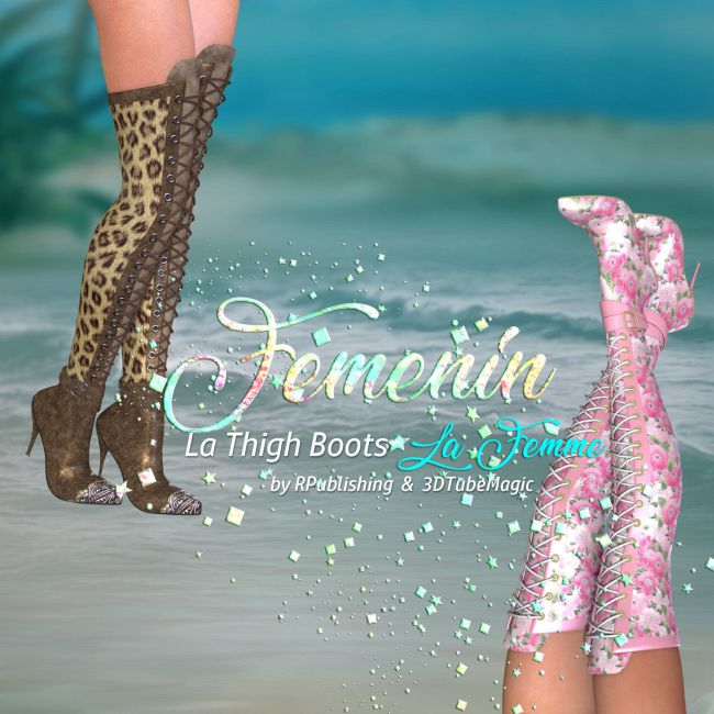 DA-Femenin for LA Thigh Boots