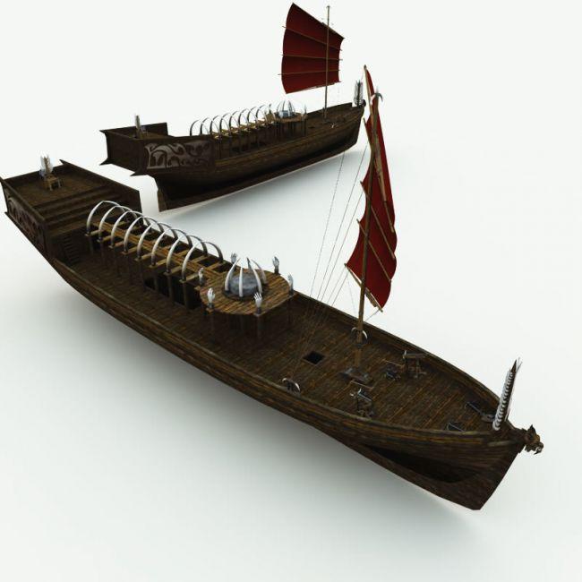 Orc Black Sorcerer Ship for Poser