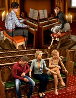 Pipe Organ Poses for Genesis 8 Male and Female