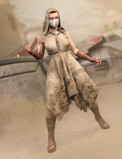 dForce CB Dystopian Dream Clothing Set for Genesis 8 Female(s)