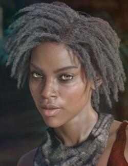 dForce Wilona Hair for Genesis 3 and 8