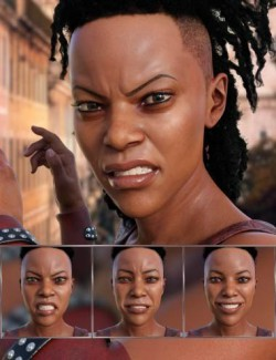 Survivor - Expressions for Genesis 8 Female and Celani 8