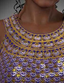 dForce Halter Neckline Dress for Genesis 8 Female