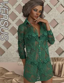 VERSUS - dForce Leisure Shirt and pose for Genesis 8 Female