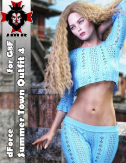 JMR dForce Summer Town Outfit 4 for G8F
