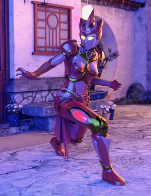 ZhuQue - The Red Phoenix Outfit for Genesis 8 Female(s)