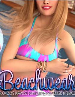 Beachwear for Japanese Swimsuit 02 for Genesis 8 Female(s)