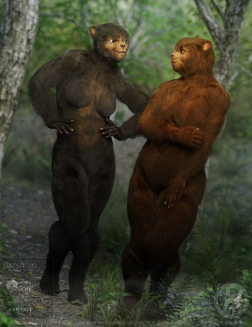 Bear Clan with dForce Hair for Genesis 8 Female