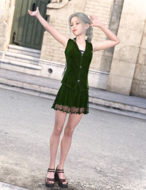 dForce Naomi's Summer Outfit for Genesis 8 Female(s)