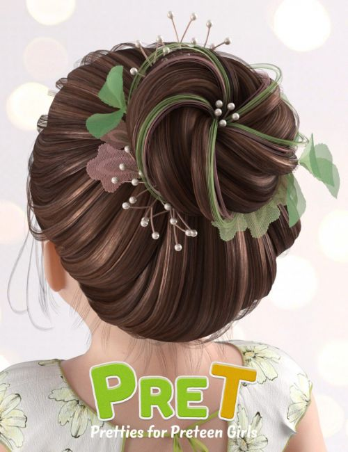 PreT Girls Bloom Hair for Genesis 8 Female(s)