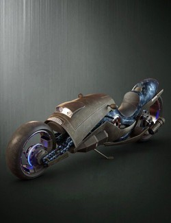 Sci-Fi Maglev Motorcycle