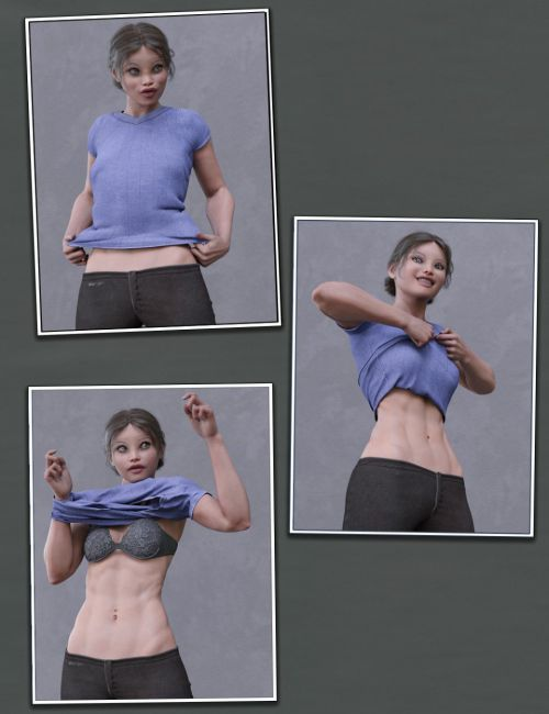 """Everyday 2 """"Get Dressed"""" Poses and Clothes for Genesis 8 Female(s)"""
