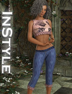 InStyle- JMR dForce Summer Town Outfit 4 for G8F
