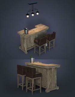 Greystone Bar Set