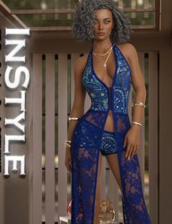 InStyle- JMR dForce Davina Long Dress for G8F