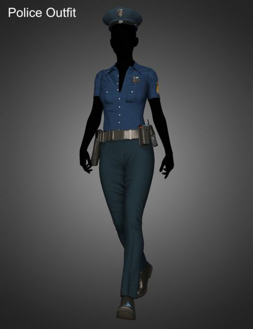 FG Police Woman Outfit for Genesis 8 Female(s)